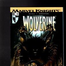Cómics: WOLVERINE 14 - MARVEL 2004 VFN+ / RUCKA & ROBERTSON / RETURN OF THE NATIVE. Lote 144146150