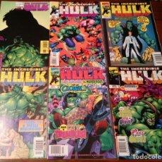 Cómics: LOTE THE INCREDIBLE HULK NºS 466, 467, 468, 470, 471, 474. MARVEL COMICS. USA. 1998 -1999.. Lote 145222394