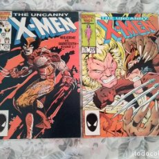 Cómics: UNCANNY X - MEN 212 Y 213 - WOLVERINE VS SABRETOOTH - CLAREMONT LEONARDI DAVIS NEARY. Lote 145873858