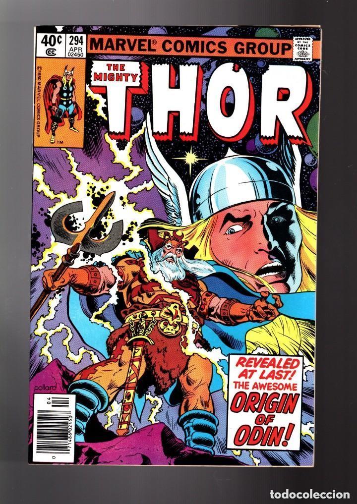 THOR 294 - MARVEL 1980 / THOMAS & POLLARD / ETERNALS CELESTIALS SAGA / ORIGIN ODIN (Tebeos y Comics - Comics Lengua Extranjera - Comics USA)