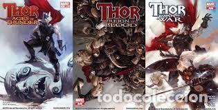 THOR: AGES OF THUNDER, REIGN OF BLOOD, MAN OF WAR Y GOD-SIZE USA (Tebeos y Comics - Comics Lengua Extranjera - Comics USA)