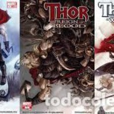 Cómics: THOR: AGES OF THUNDER, REIGN OF BLOOD, MAN OF WAR Y GOD-SIZE USA. Lote 147788254