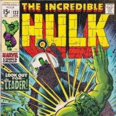 Cómics: THE INCREDIBLE HULK -1970- JAN Nº123. Lote 147976478