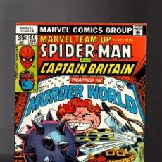 Cómics: MARVEL TEAM UP 66 - 1978 VFN- / SPIDER-MAN AND CAPTAIN BRITAIN / BYRNE / 1ST ARCADE MURDERWORLD. Lote 195354305