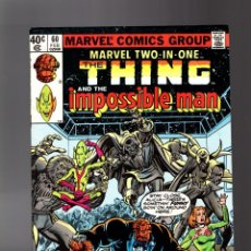 Cómics: MARVEL TWO IN ONE 60 VFN- 1980 / THING & IMPOSSIBLE MAN / GEORGE PEREZ. Lote 195353991