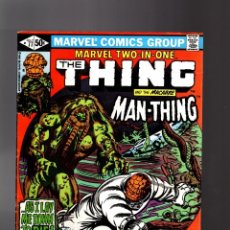 Cómics: MARVEL TWO IN ONE 77 - 1981 VFN- / THING AND MAN-THING / BEN GRIMM & SGT FURY. Lote 195353897