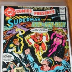 Cómics: DC COMICS PRESENTS 13 SUPERMAN LEGION OF SUPER HEROES DC VFN+. Lote 148597958