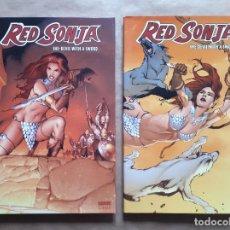 Cómics: RED SONJA - SHE-DEVIL WITH A SWORD VOL 1 Y 2 - DYNAMITE - EDICIÓN FIRMADA Y NUMERADA - JMV. Lote 149357746