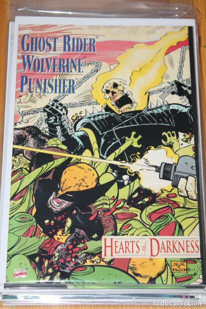 GHOST RAIDER WOLVERINE PUNISHER HEARTS OF DARKNESS MARVEL ORIGINAL VFN/NM (Tebeos y Comics - Comics Lengua Extranjera - Comics USA)