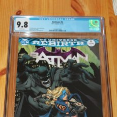 Cómics: BATMAN 6 DC UNIVERSE REBIRTH GRADED 9.8 CGC WHITE PAGES 2016. Lote 151462418