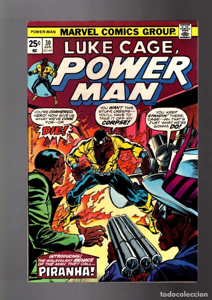 POWER-MAN / LUKE CAGE HERO FOR HIRE 30 # MARVEL 1976 VFN+ (Tebeos y Comics - Comics Lengua Extranjera - Comics USA)