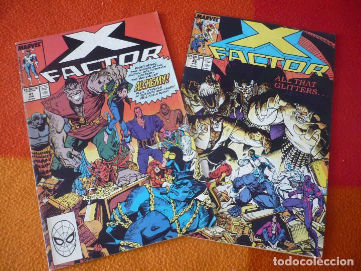 X FACTOR NºS 41 Y 42 ¡BUEN ESTADO! ( EN INGLES ) MARVEL 1986 (Tebeos y Comics - Comics Lengua Extranjera - Comics USA)