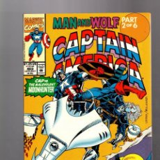 Cómics: CAPTAIN AMERICA 403 - MARVEL 1992 VFN / MAN AND WOLF / WOLVERINE. Lote 155786494