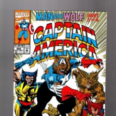 Cómics: CAPTAIN AMERICA 406 - MARVEL 1992 VFN+ / MAN AND WOLF / CAPWOLF / WOLFPACK / WOLVERINE. Lote 155786758