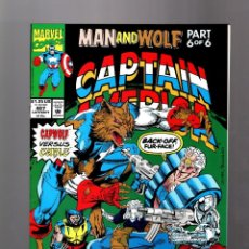 Cómics: CAPTAIN AMERICA 407 - MARVEL 1992 VFN+ / MAN AND WOLF / CAPWOLF VS CABLE / WOLFPACK / WOLVERINE. Lote 155786870