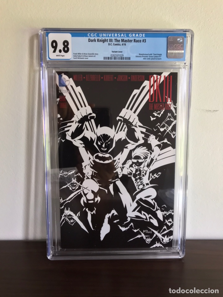 Batman Dark Knight DK3: the Master Race #3 Variant CGC 9 8