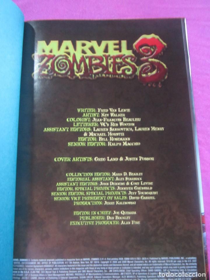 Cómics: ZOMBIES 3 TOMO DE TAPA DURA CON SOBRECUBIERTA MARVEL EN INGLES - Foto 4 - 157848506