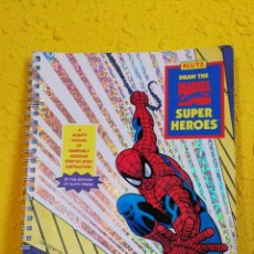 Cómics: KLUTZ DRAW THE MARVEL COMICS SUPER HEROES.SPIDERMAN.1995 ORIGINAL USA.RARO. Lote 158570561