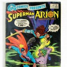 Cómics: DC COMICS PRESENTS Nº 75 - SUPERMAN & ARION LORD OF ATLANTIS (DC 1984). Lote 160588354