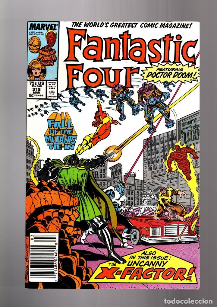 FANTASTIC FOUR 312 - MARVEL 1988 VFN / FALL OF THE MUTANTS / X-FACTOR / DOCTOR DOOM (Comics und Tebeos - Internationale Comics - Comics USA)