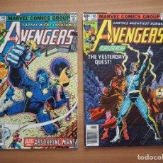 Cómics: THE AVENGERS Nº 184 Y 185 - DAVID MICHELINIE & JOHN BYRNE - EN INGLÉS. Lote 160835990