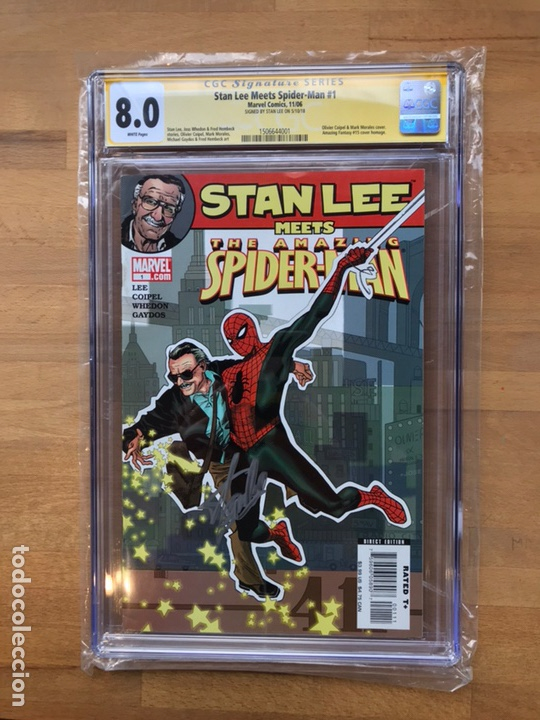 Cómics: Stan Lee meets Spider-Man CGC 8.0 SS Stan Lee!! - Foto 2 - 162275473