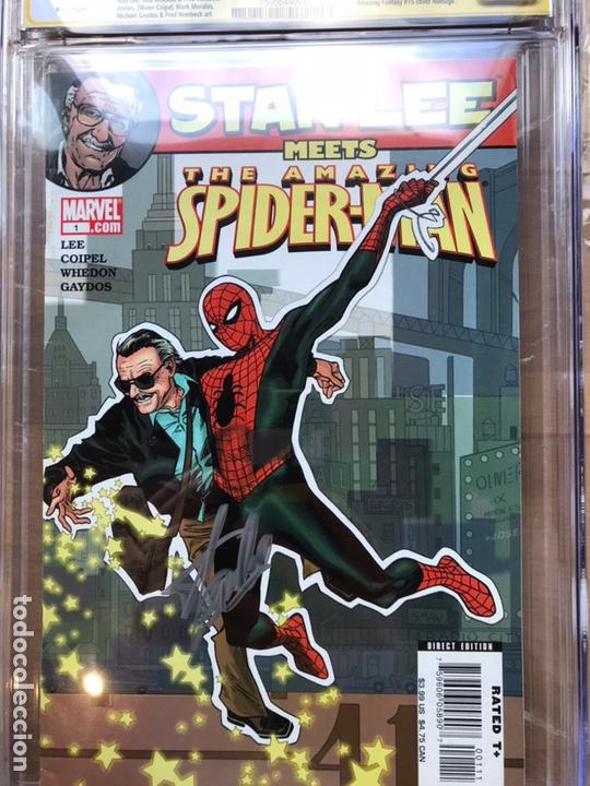 Cómics: Stan Lee meets Spider-Man CGC 8.0 SS Stan Lee!! - Foto 3 - 162275473