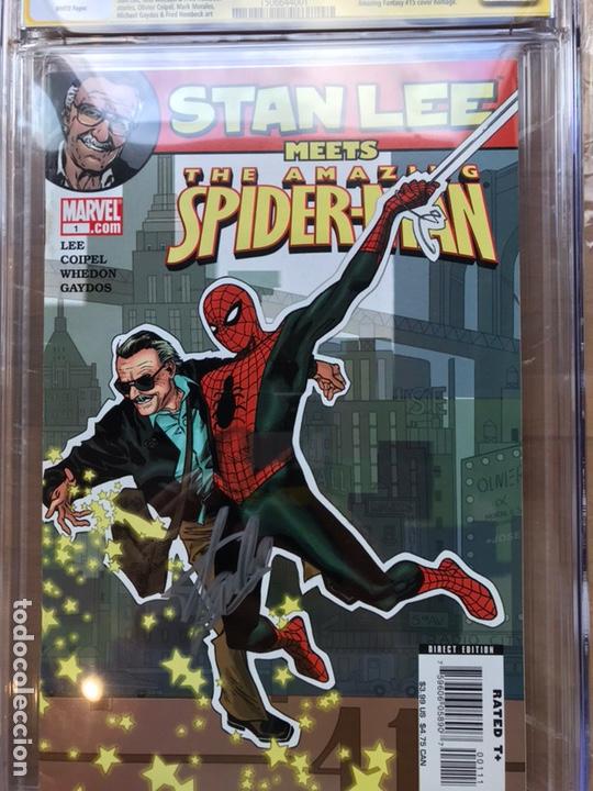 Cómics: Stan Lee meets Spider-Man CGC 8.0 SS Stan Lee!! - Foto 4 - 162275473