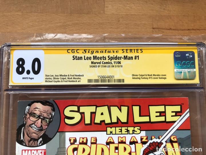 Cómics: Stan Lee meets Spider-Man CGC 8.0 SS Stan Lee!! - Foto 7 - 162275473