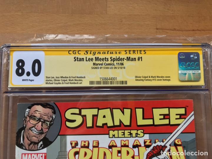 Cómics: Stan Lee meets Spider-Man CGC 8.0 SS Stan Lee!! - Foto 8 - 162275473