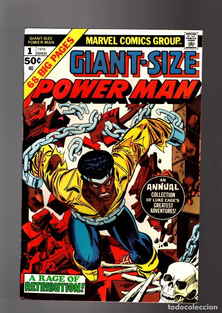 POWER-MAN / LUKE CAGE HERO FOR HIRE GIANT SIZE 1 - MARVEL 1975 VFN (Tebeos y Comics - Comics Lengua Extranjera - Comics USA)