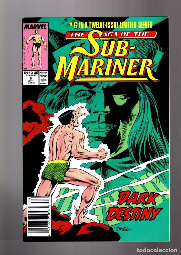 SAGA OF THE SUB-MARINER 6 - MARVEL 1989 VFN/NM / NAMOR (Tebeos y Comics - Comics Lengua Extranjera - Comics USA)
