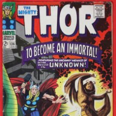 Cómics: JOURNEY INTO MYSTERY (THOR) #136 (1964) - JACK KIRBY - FN 6.0. Lote 167617940