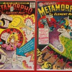 Cómics: METAMORPHO THE ELEMENT MAN (1965) - #1 (VF- 7.5) & #4 (FN 6.0). Lote 167664184
