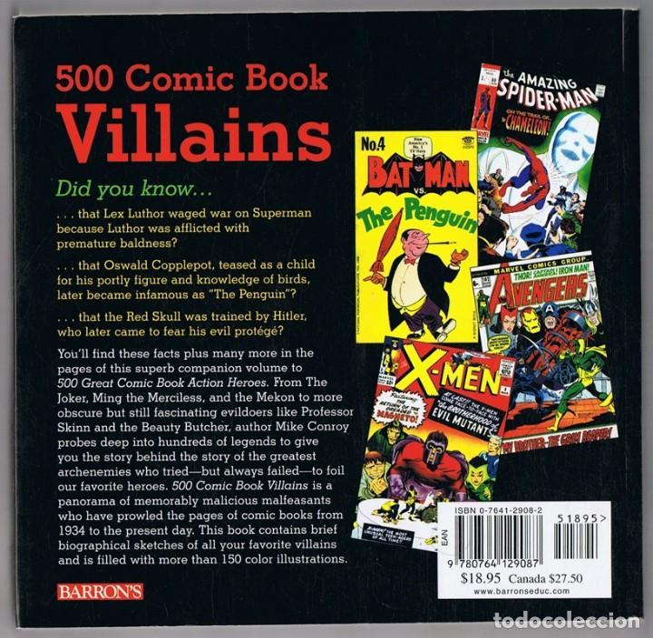 Cómics: 500 COMIC BOOK VILLAINS MIKE CONROY - Foto 2 - 167730212