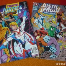 Cómics: JUSTICE LEAGUE INTERNATIONAL NºS 56 Y 60 ( GERARD JONES ) ( EN INGLES ) ¡BUEN ESTADO! DC USA. Lote 167954516