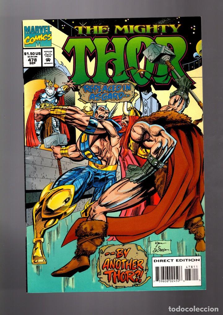 THOR 478 - MARVEL 1994 VFN/NM (Tebeos y Comics - Comics Lengua Extranjera - Comics USA)