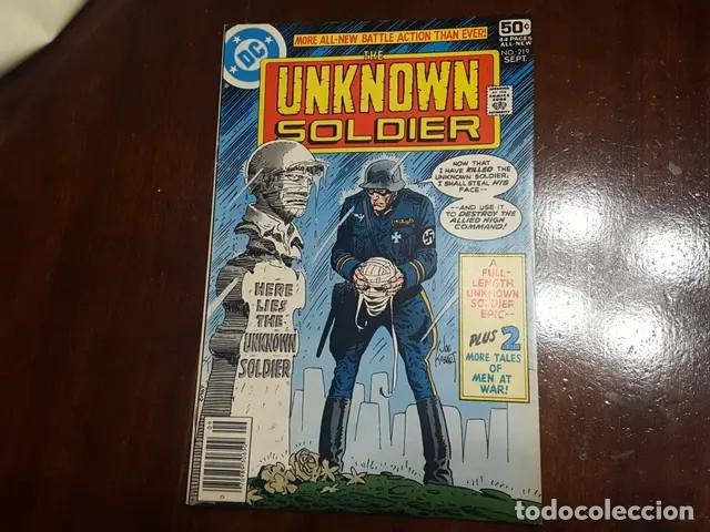 THE UNKNOWN SOLDIER # 219 (FRANK MILLER) DICK AYERS HISTORIA COMPLENTARIA DE 5 PAGS DE FRANK MILLER (Tebeos y Comics - Comics Lengua Extranjera - Comics USA)