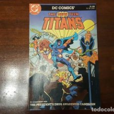 Cómics: THE NEW TEEN TITANS - DRUG AWARENESS GUION DE MARV WOLFMAN DIBUJO DE ROSS ANDRU THE PRESIDENT'S. Lote 168183764