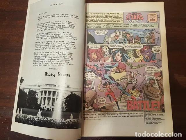 Cómics: The New Teen Titans - Drug Awareness Guion de Marv Wolfman Dibujo de Ross Andru The presidents - Foto 3 - 168183764
