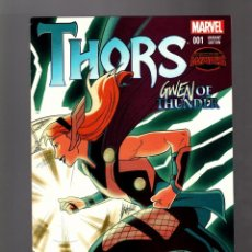Cómics: THORS 1 SECRET WARS - MARVEL 2015 VFN/NM - GWEN OF THUNDER / GWEN STACY VARIANT COVER . Lote 168194696