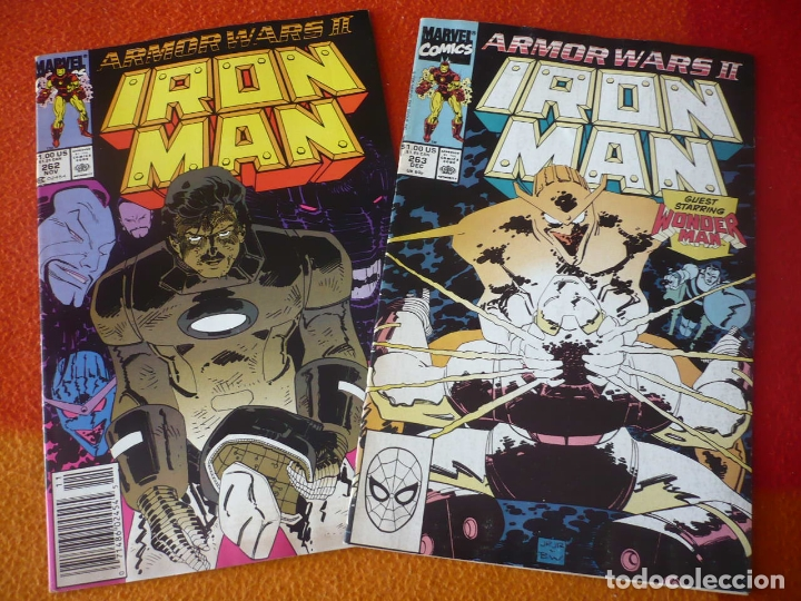 Cómics: IRON MAN NºS 262 Y 263 ARMOR WARS II ( BYRNE ROMITA ) ( EN INGLES ) ¡BUEN ESTADO! MARVEL USA - Foto 1 - 168323340