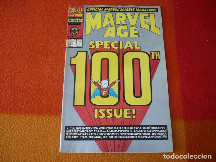 MARVEL AGE Nº 100 SPECIAL ISSUE THE OFFICIAL MARVEL NEWS MAGAZINE ( EN INGLES ) USA (Tebeos y Comics - Comics Lengua Extranjera - Comics USA)