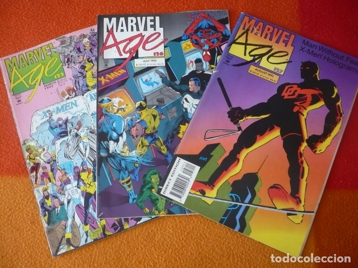 MARVEL AGE NºS 122, 126Y 127 THE OFFICIAL MARVEL NEWS MAGAZINE ( EN INGLES ) USA (Tebeos y Comics - Comics Lengua Extranjera - Comics USA)