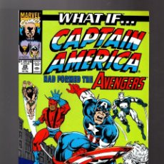 Cómics: WHAT IF 29 CAPTAIN AMERICA HAD FORMED THE AVENGERS ? - MARVEL 1991 VFN. Lote 168374492