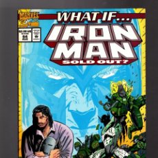 Cómics: WHAT IF 64 IRON MAN SOLD OUT ? - MARVEL 1994 VFN. Lote 168375432