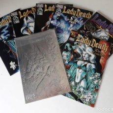 Cómics: LADY DEATH: THE CRUCIBLE - 1-7 ¡¡COMPLETA!! - FIRMADA - CHAOS COMICS. Lote 168381920