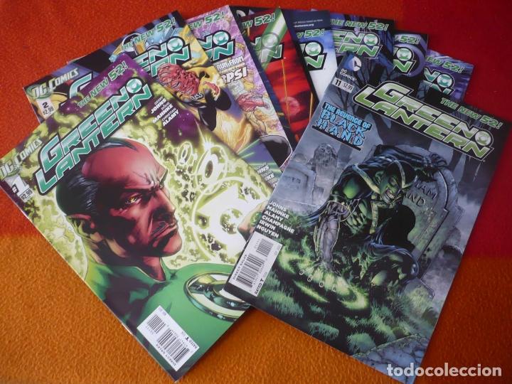 GREEN LANTERN NºS 1 AL 11 ( GEOFF JOHNS MAHNKE ) ( EN INGLES ) ¡MUY BUEN ESTADO! USA DC THE NEW 52 (Tebeos y Comics - Comics Lengua Extranjera - Comics USA)