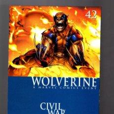 Cómics: WOLVERINE 42 - MARVEL 2006 VFN/NM / GUGGENHEIM & RAMOS / CIVIL WAR . Lote 168595472