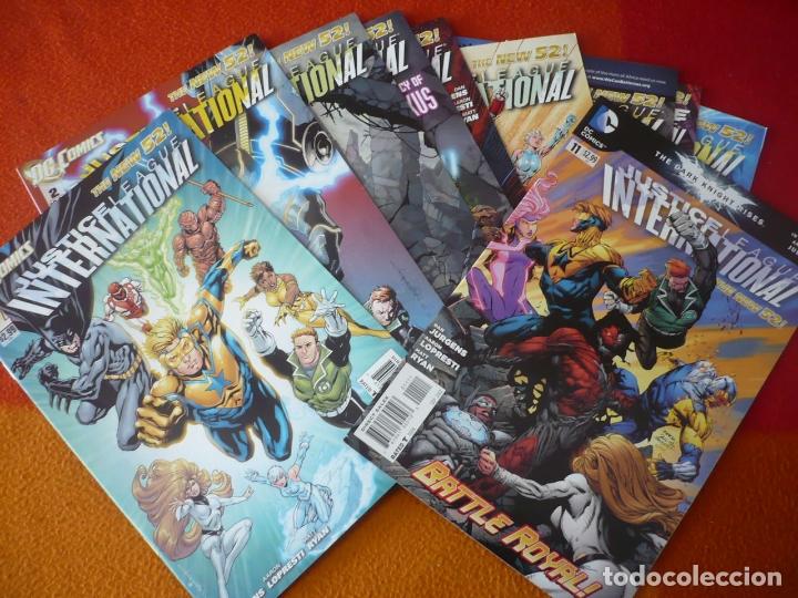 JUSTICE LEAGUE INTERNATIONAL NºS 1 AL 9 + 11 ( EN INGLES ) ¡MUY BUEN ESTADO! USA DC THE NEW 52 (Tebeos y Comics - Comics Lengua Extranjera - Comics USA)
